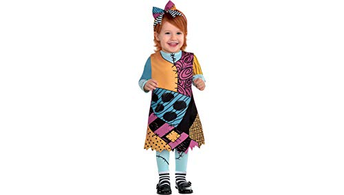 The Nightmare Before Christmas Sally Halloween Costume for Infants, 6-12 Months, with Included Accessories