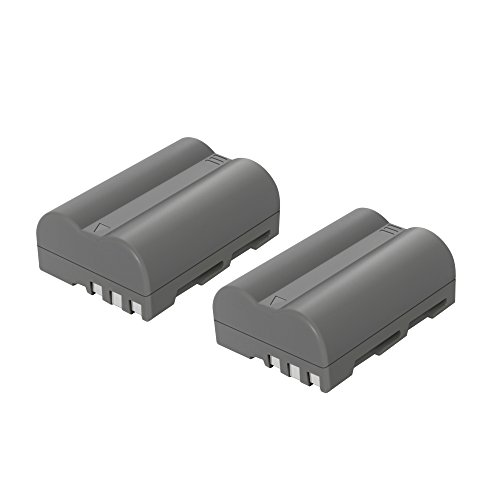 Bonacell 2 Pack Replacement 2000mAh Nikon EN-EL3E Battery for Nikon D700, D300, D300S, D200, D100, D90, D80, D70, D70s, D50 Digital SLR Camera