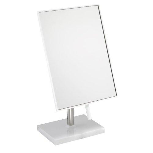 Free Standing Bathroom or Dressing Table Mirror 22cm x 16cm White FMG 927b