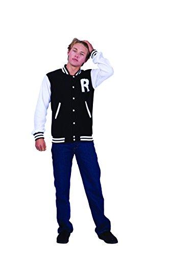 RG Costumes Men's Letterman Jacket, Black, Medium ()