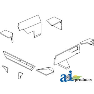 A&I - Kit, Cab Beltline Upholstry. PART NO: A-RE155148-B