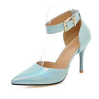 pwne Zapatos De Mujer Sandalias Comfort Polipiel Primavera Verano Otoño Office &Amp; Carrera Vestir Hebilla Casual Stiletto Talón Almond Rubor Rosa Azul Negro Azul Us5.5 / Ue36 / Uk3.5 / Cn35 US6 / EU36 / UK4 / CN36