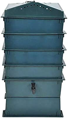 vidaXL Compostador para Gusanos con 4 Bandejas Verde Vermicompostador Abono