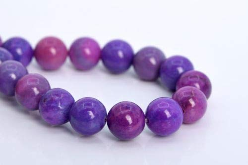 6mm Natural Purple Sugilite Jade Beads Grade Round Loose Beads 7.5'' Crafting Key Chain Bracelet Necklace Jewelry Accessories Pendants