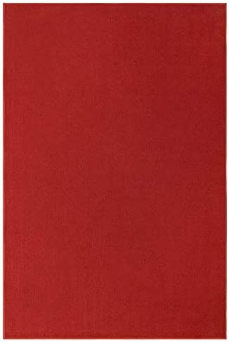 Indoor Outdoor Red Area Rugs with Premium Non Skid Backing Great for Patio, Porch, Deck, Party, Garage, Boat, Event, Basement, Wedding Tents and More Available Size 9 x12