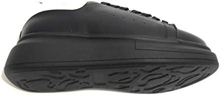 Scarpe donna sneaker con zeppa Gold&gold ecopelle nero/bianco D20GG47