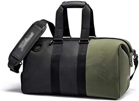 ハンドバッグ大容量ボストンバッグ服多機能ポータブルゴルフの服バッグユニセックス PU素材4色のオプション HMMSP (Color : D)