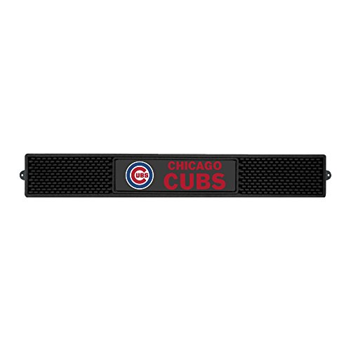 FANMATS MLB Chicago Cubs Vinyl Drink Mat (Floor Mat Mlb Rubber)