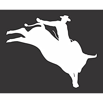Personalized Bull Riding Decal Custom Vinyl Graphic Bumper Sticker Rodeo E