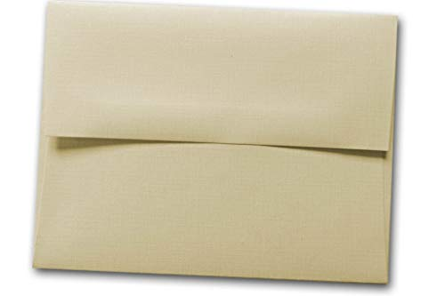 Premium Embossed Linen Blank A-7 Square Flap Envelopes - Great for Invites, Greeting Cards, Post Cards, Invitations, Birthday Cards, Mailings, Showers, Events, Etc. (Ivory, 50 Pack) ()