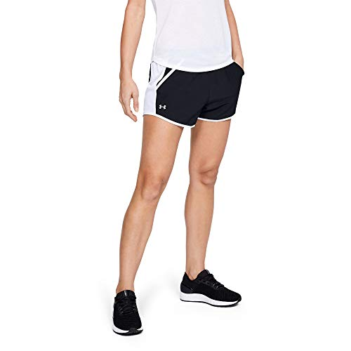 Under Armour Women's Fly By Running Shorts, Black (001)/Reflective, Small (Running Shorts Women Large)