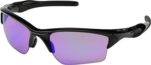 Oakley Men's Half Jacket 2.0 Rectangular Sunglasses, Prizm Golf Lens , Polished - Sunglasses Express Mens
