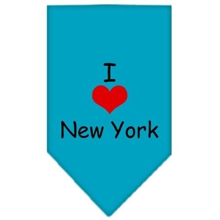 Mirage Pet Products I Heart New York Screen Print Bandana for Pets, Small, Turquoise by Mirage Pet Products (Image #1)