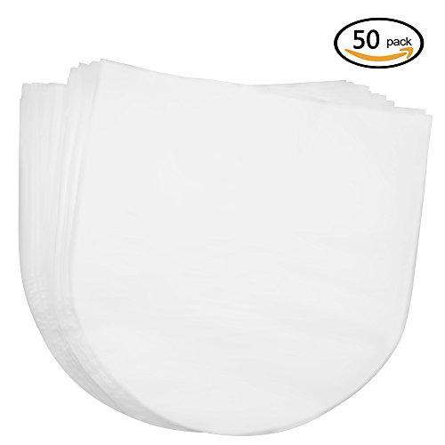 Meetory 50 Pcs 12 inch Vinyl Record Sleeves Covers,Anti Static Semi-transparent Protection for 12 Inch Vinyl LP Album