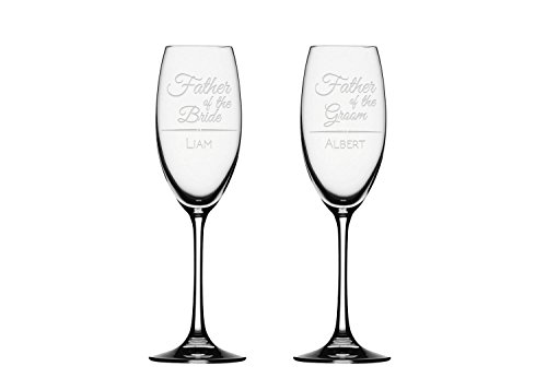 2x Champagne Flute, Father of the bride Champagne Glass, Personalized Toasting Flute Glasses,Wedding Gifts,Customized gifts