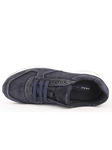 FRAU - Zapatillas de cuero nobuck para hombre azul turquesa