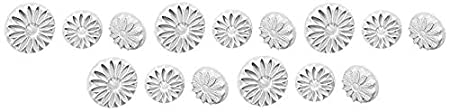 3-Pack Knightsbridge Global Ltd PME Plunger Cutters SD618 Veined Sunflower Daisy and Gerbera