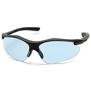 Pyramex Fortress Safety Eyewear, Infinity Blue Lens With Black Frame