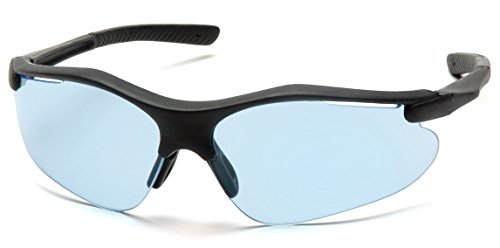 Pyramex Fortress Safety Eyewear, Infinity Blue Lens With Black Frame
