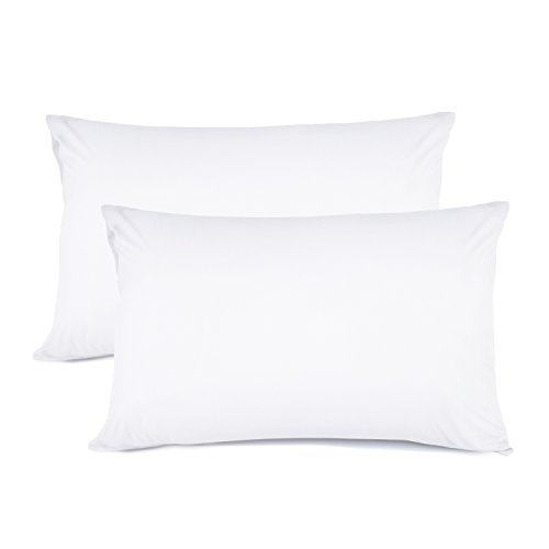 Set of 2 Pillow Cases Queen Size, 100% Brushed Microfiber Li