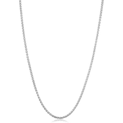 (Kooljewelry Sterling Silver Round Wheat Chain Necklace (2 mm, 36 inch))