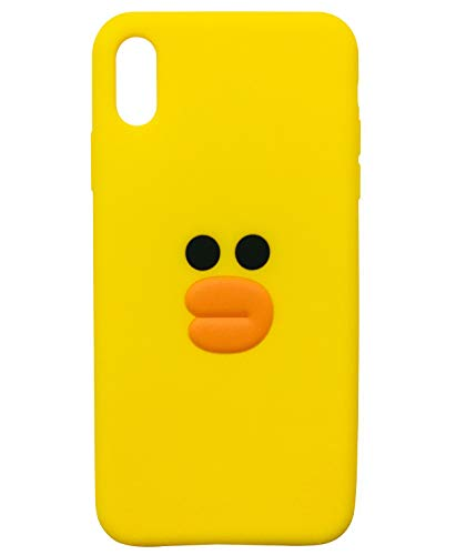 TopFunny Cases for iPhone XR Case Silicone 3D Cute Cartoon Duck Soft TPU Slim Fit Rubber Bumper Protective Gel Cover Shockproof Case Compatible with Apple iPhone XR 6.1