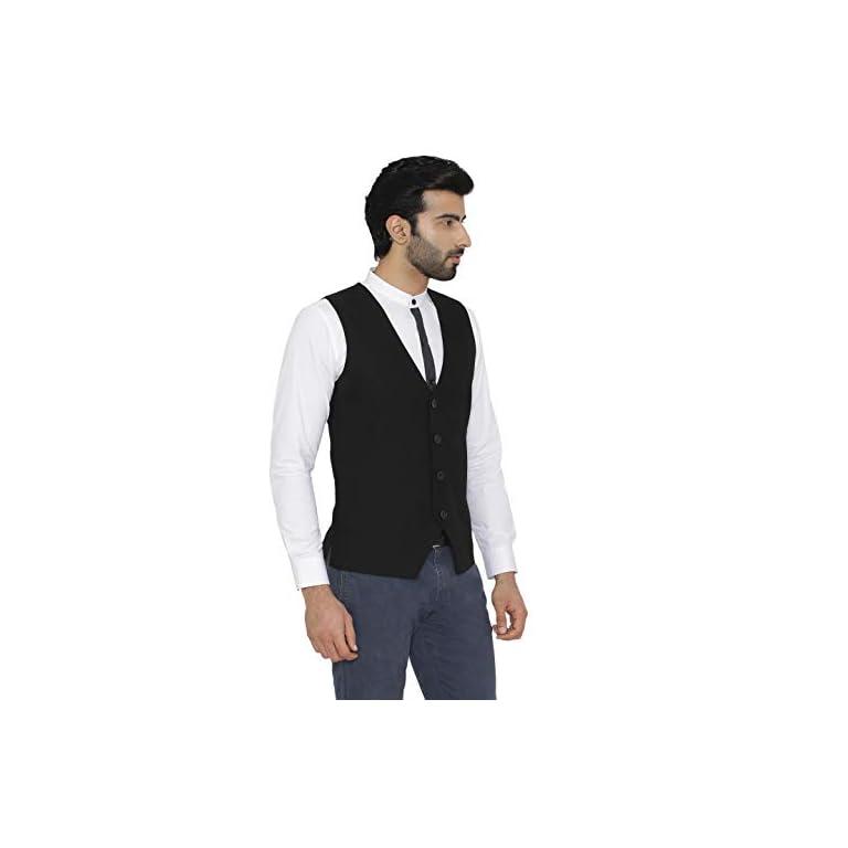 31P wwTwv3L. SS768  - Raas Prêt Men Black Cotton Waistcoat