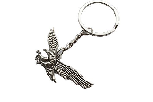 Antique Silver Eagle Key Ring Eagle Keychain Pendant