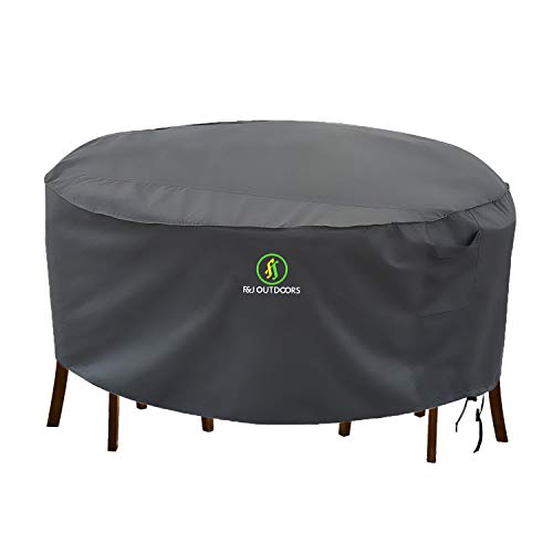 Outdoor Patio Furniture Covers Waterproof Uv Resistant Anti Fading Cover For Medium Round Table Chairs Set Grey 72 Inch Diameter