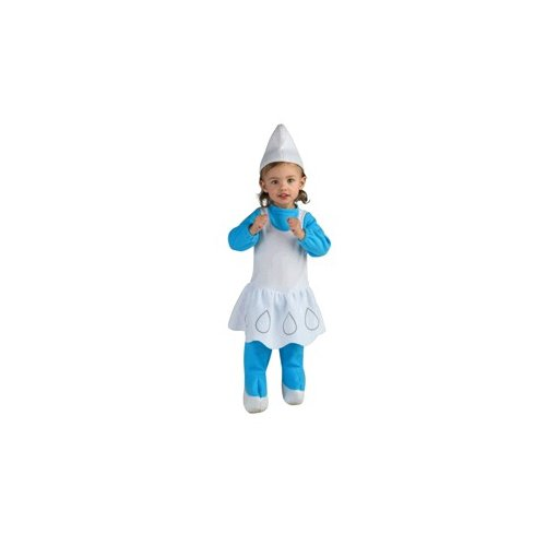 The Smurfs - Smurfette EZ On Romper Child Costume Size 2-4 Toddler -