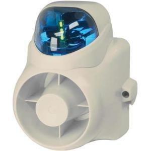 W Box Technologies 2-TN SIREN 120DB W/ BLU STROBE - 0E-OUTDSIRSB