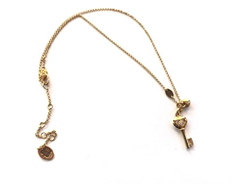 Juicy Couture Key and Charm Heart Pendant Necklace