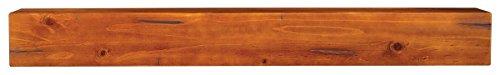 wood beam fireplace mantel - 9