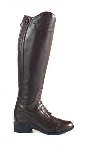 JTE Nebraska H20, Stivali da equitazione, donna, misura 4, colore: Nero Marrone - marrone