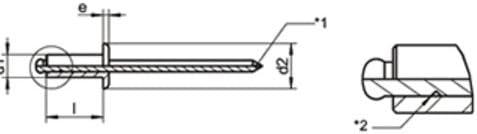 Blindnieten A2 4X8 Blindnieten-A2 50 Stk