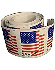 """Forever Stamps""""American Flags""""-Liberty, Equality, and Justice! Self-Adhesive.Coil - Roll of 100. 100 in Total. Good Forever."""