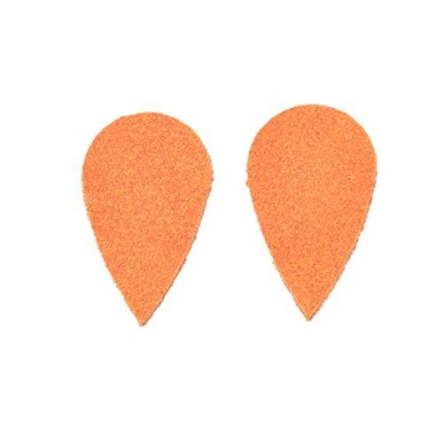 "12pk-Leather Teardrop Mini Die Cut /""Cali/"" Orange County Fair DIY Earrings"