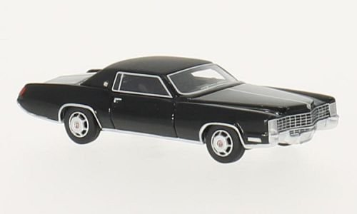 Cadillac Eldorado, black/matt-black, 1968, Model Car, Ready-made, BoS-Models 1:87