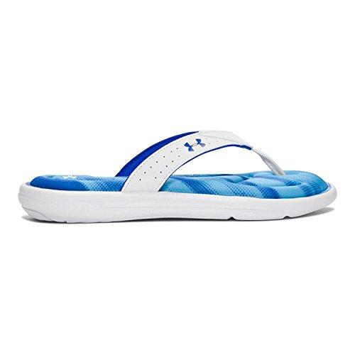 Onderarmband Marbella Finisher V String Wit / Blauw
