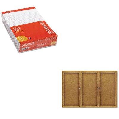 KITQRT367UNV20630 - Value Kit - Quartet Enclosed Bulletin Board (QRT367) and Universal Perforated Edge Writing Pad (UNV20630) by Quartet