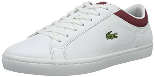 Lacoste Straightset G316 3 - Zapatillas Hombre Weiß (Wht/Red 286)