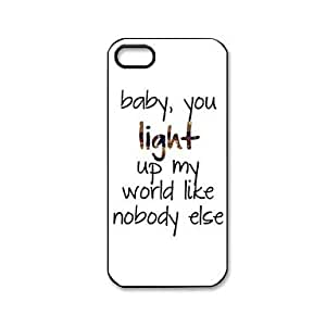 HP DF One Direction Quotes Pattern Plastic Hard Case for iPhone 5/5S