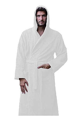Luxurious Bamboo - robesale Terry Bamboo Womens Bathrobe - White, One Size