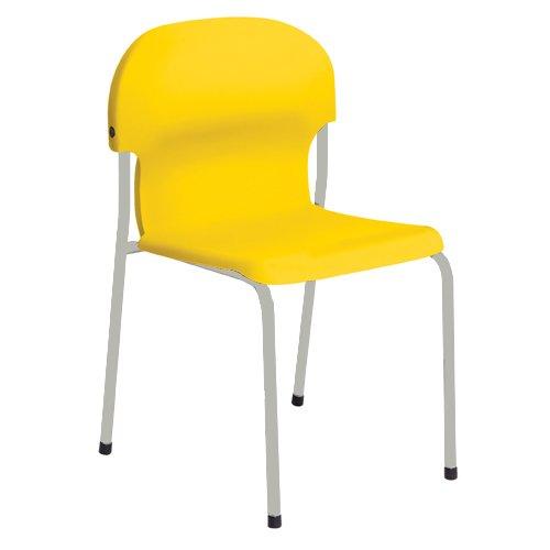 Metalliform 2018-lg-yellow standard Classroom sedia con sedile 310mm, giallo