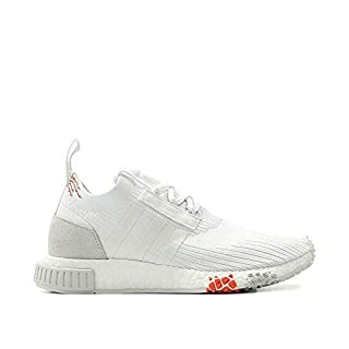 adidas Womens NMD Racer PK W White/White/Scarlet Woven Size 5