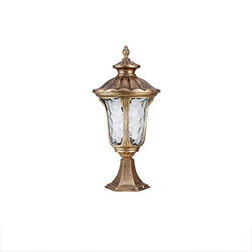 moda classica Lampada da da da giardino impermeabile, Retrò Villa Giardino Lampade da parete Lampada da parete Lampada da parete Luce da prato Luce singola E27, Alta 50CM ( colore   Brass )  fino al 65% di sconto