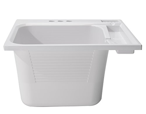 Essential Sink Laundry (CASHEL Drop-In Sink - Essential Kit, White, 1970-20-01)