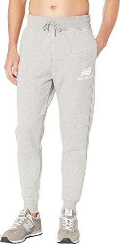- New Balance Men's Essentials Brushed Sweatpants Athletic Grey X-Large 27
