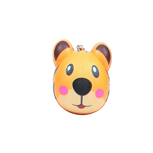 Binory Squishy Toy,Exquisite Mini Cute Animal Creative Purchase Bag/Wallet/Keychain/Phone Ornament,Slow Rising Attractive Toy,Stress Relief Fun Kawaii Decompression Toy,Children's Day Gift(A) ()