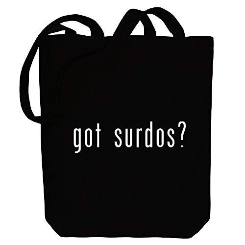 Idakoos Got Surdos? Linear Canvas Tote Bag 10.5